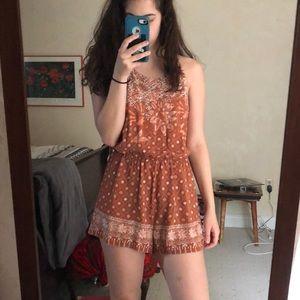 NWT O'Neill Orange Floral Romper sz M